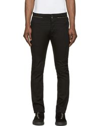 Diesel Black Gold Black Twill Patop Trousers - Lyst