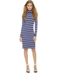 Preen Ashes Dress - Navy Breton Stripe - Lyst