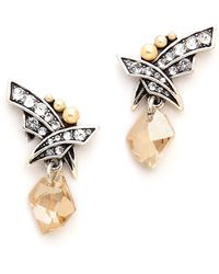 Jenny Packham Fountain I Earrings Silver Pearl - Lyst
