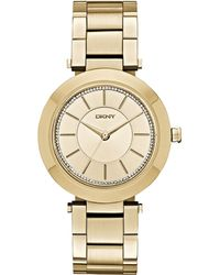 DKNY Women'S Stanhope Gold-Tone Stainless Steel Bracelet Watch 36Mm Ny2286 - Lyst