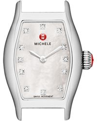 Michele Urban Coquette Mother-Of-Pearl Watch Head & 12Mm Patent Leather Strap - Lyst