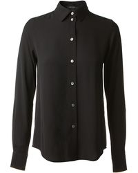 Marc Jacobs Black Silk Shirt - Lyst