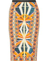 Peter Pilotto H Printed Crepe Skirt - Lyst