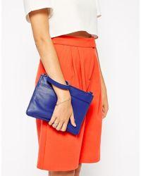 Oasis - Stephanie Leather Clutch Bag - Lyst