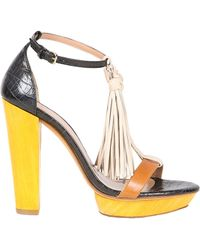 Hoss Intropia Multicolor Heeled Sandal - Lyst