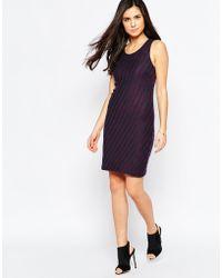 Vila | Striped Sleeveless Bodycon Dress | Lyst