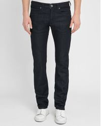 Armani | Blue J06 Raw Denim Slim-fit Jeans | Lyst