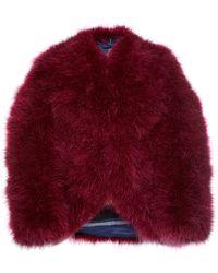 Sonia Rykiel Marabour Fur Cropped Jacket - Lyst