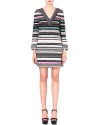 Diane Von Furstenberg Ruby Embellished Silk Dress Badon - Lyst