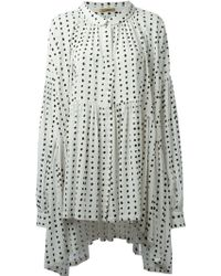 Peter Jensen Yoko Polka Dot Smock Dress - Lyst
