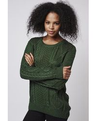 TOPSHOP - Timeless - Green Jumper By Goldie - Lyst