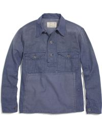 Madewell Denim Workshirt Pullover - Lyst