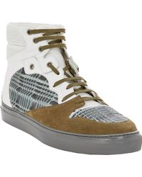 Balenciaga Origami Panel Leather High Top Sneakers - Lyst