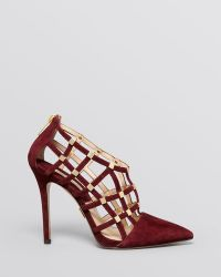 Michael Kors Pointed Toe Caged Pumps  Agnes High Heel - Lyst