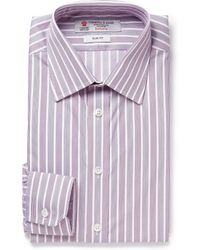 Turnbull & Asser Purple Slim-fit Striped Cotton Shirt - Lyst