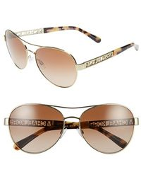 Michael Kors Collection 60Mm Aviator Sunglasses - Lyst