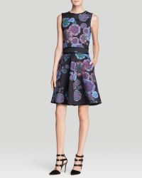Cynthia Rowley Dress  Bonded Fit and Flare - Lyst