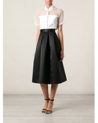 Lulu & Co - Satin Box Pleated Skirt - Lyst