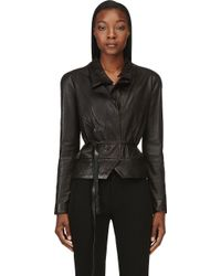 Isabel Marant Black Washed Lambskin Barney Jacket - Lyst