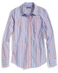 Tommy Hilfiger Oxford Long Sleeve Multi Stripe Shirt - Lyst