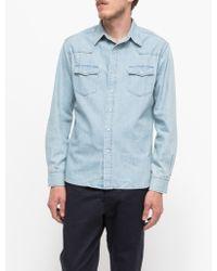 Need Supply Co. Western Shirt blue - Lyst