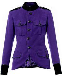 Jean Paul Gaultier - Leathertrim Military Jacket - Lyst