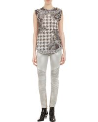 Balmain Houndstooth Linkprint Sleeveless Top - Lyst