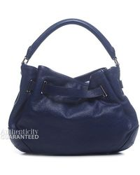 Burberry Pre-owned Blue Leather Shoulder Bag - Lyst