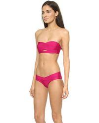 Hervé Léger Loretta Bikini Top - Bright Pink - Lyst