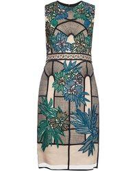 Erdem Brenton Embroidered Organza Dress - Lyst