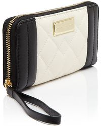 Marc By Marc Jacobs Wristlet - Slim Zip Around Moto Quilted Continental - Lyst