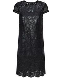 Karen Millen Patchwork Lace Dress - Lyst