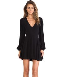 Lovers + Friends Black Shimmy Dress - Lyst