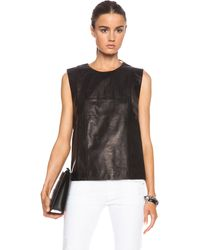 Blk Dnm Leather Shirt 23 - Lyst