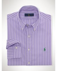 Polo Ralph Lauren Striped Poplin Sport Shirt - Lyst
