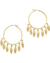 Juicy Couture - Multi Feather Hoop Earrings  - Lyst