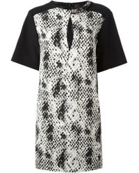 Emanuel Ungaro Colour Block Shift Dress - Lyst