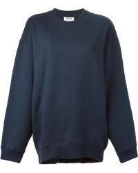 Acne Studios Blue Beta Sweatshirt - Lyst