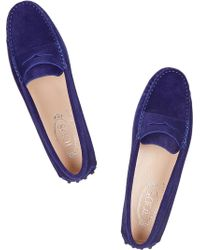 Tod's Suede Loafers - Lyst