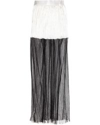Haider Ackermann Pleated Silk And Tulle Skirt - Lyst