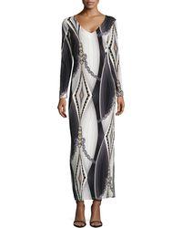 BCBGMAXAZRIA Geometricprint Slinky Jersey Maxi Dress - Lyst
