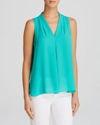 Vince Camuto Inverted Pleat Blouse - Lyst