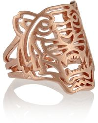 KENZO - Tiger Rose Goldplated Ring - Lyst