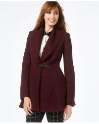 Kensie - Buckled A-line Coat - Lyst