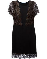 Blumarine Lace Inserts Flared Dress - Lyst