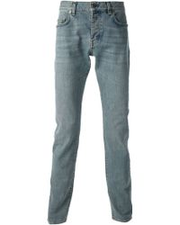 Saint Laurent Blue Classic Jeans - Lyst