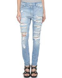 Ksubi Slim Straight Destroyed Jeans - Hay Day Mayday Destroy - Lyst