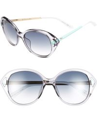 Dior 'Chromatic 2' 54Mm Retro Sunglasses - Lilac/ Aqua - Lyst