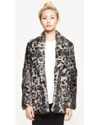Elizabeth And James Holly Leopard Coat - Lyst