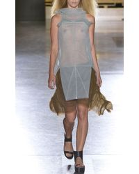 Rick Owens Sleeveless Double Chalice in Acqua Tulle - Lyst